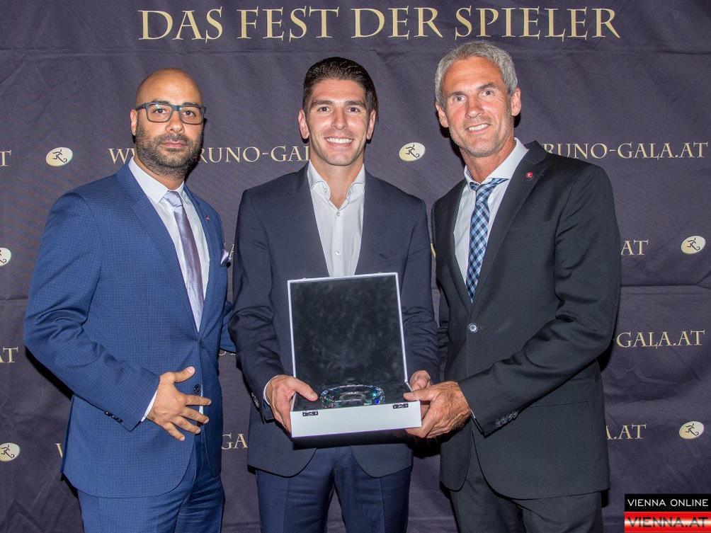 Soriano wurde bei der Bruno Gala als bester Fußballer ausgezeichnet.