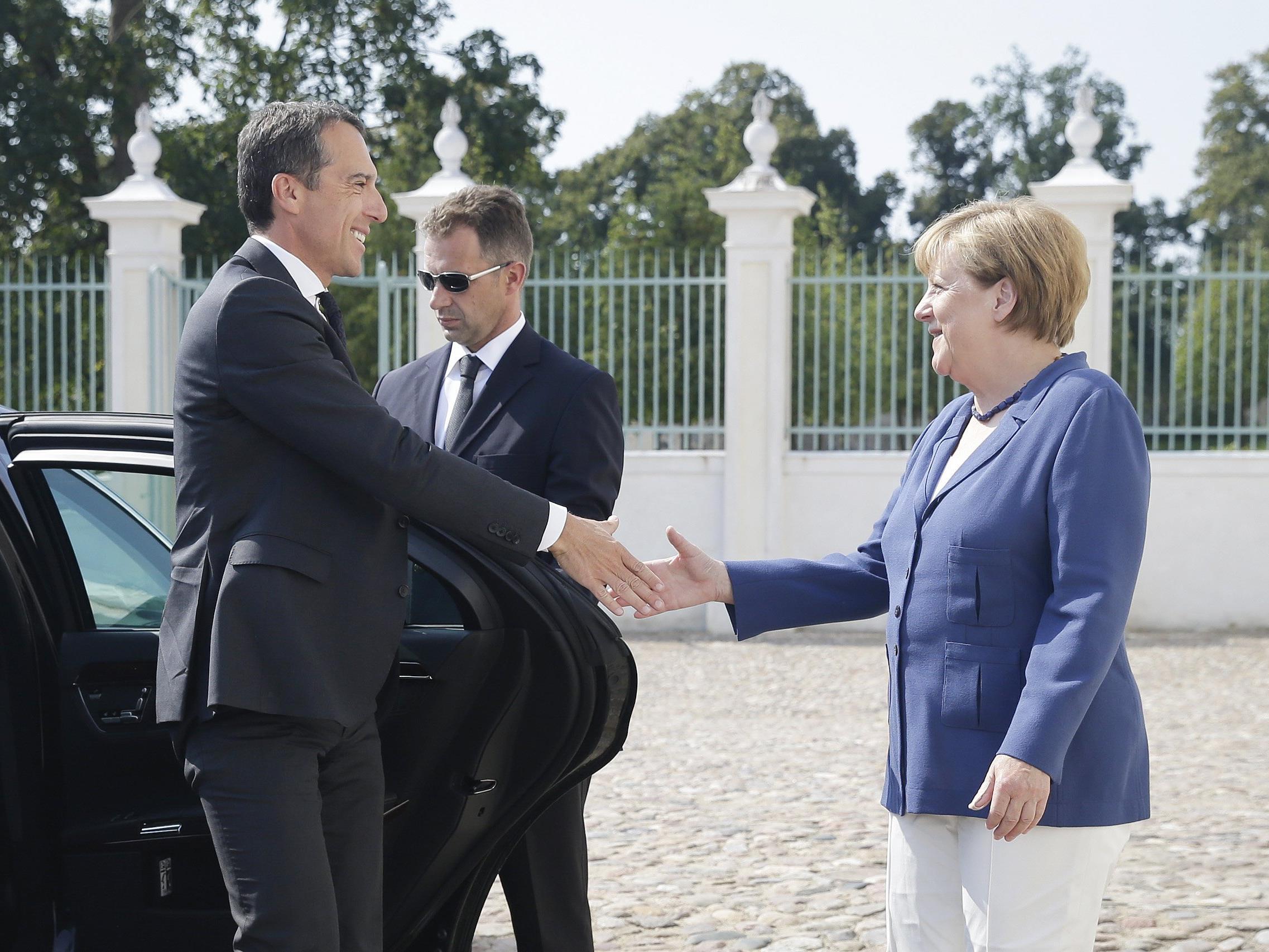 Bundeskanzler Christian Kern und seine deutsche Amtskollegin Angela Merkel.