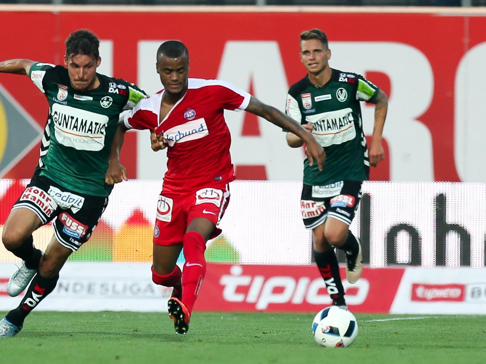 SV Ried erkämpfte gegen Austria Wien einen Punkt.