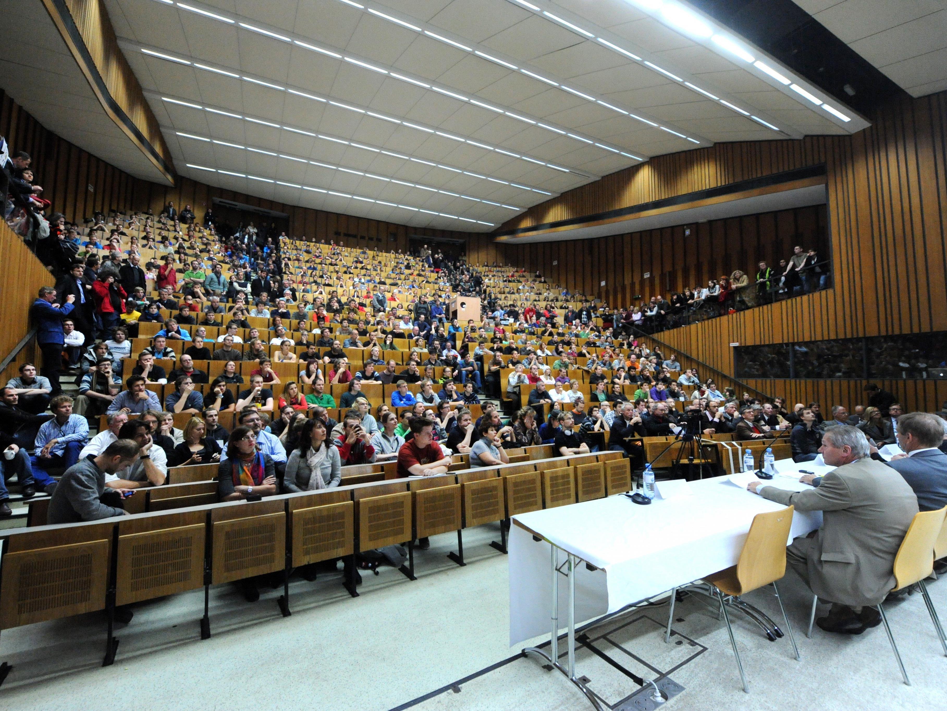 Hörsaal der Technischen Universität in Wien.