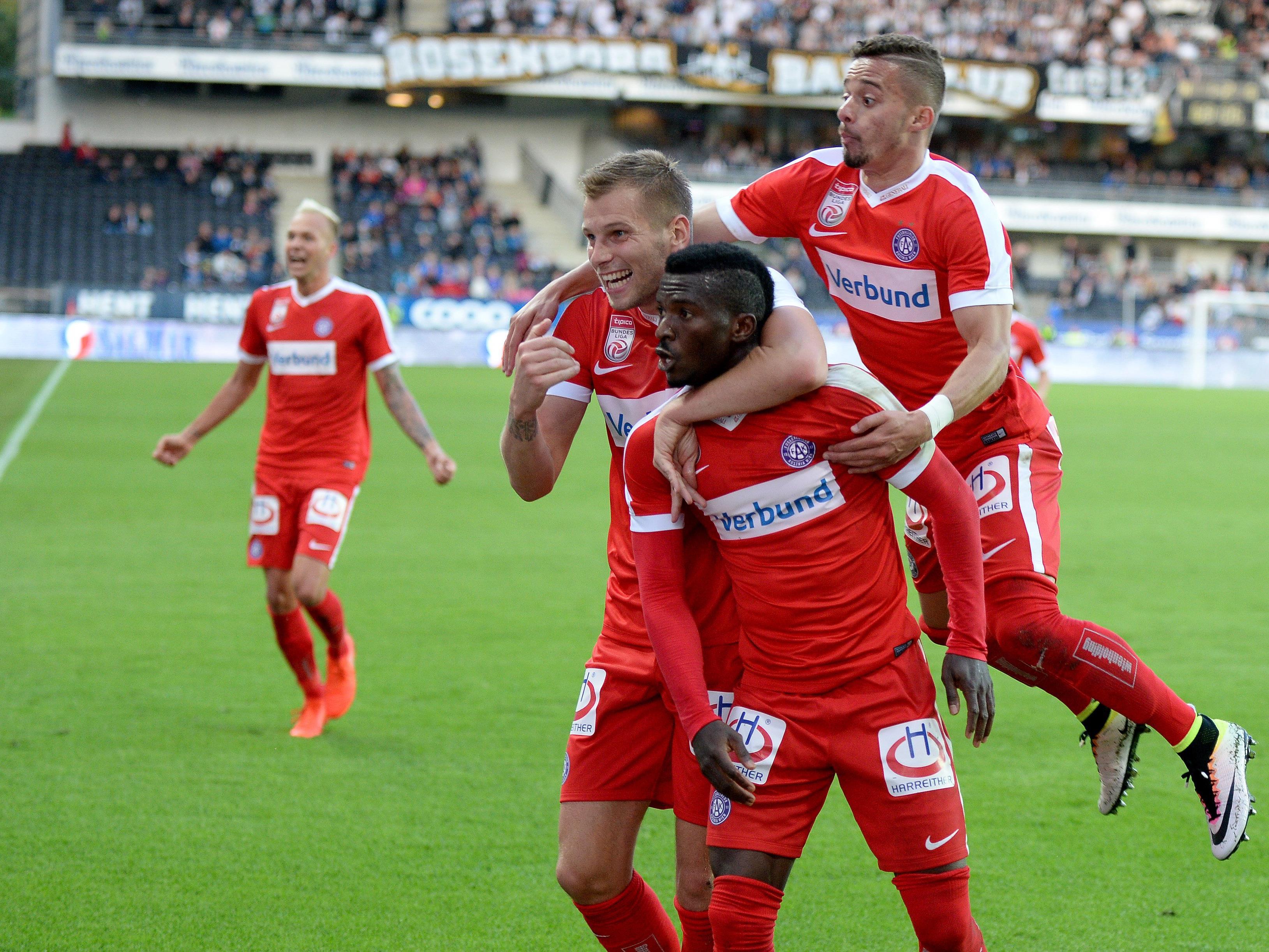 Austria Wien schafft mit 2:1-Auswärtssieg Aufstieg in EL-Gruppenphase.