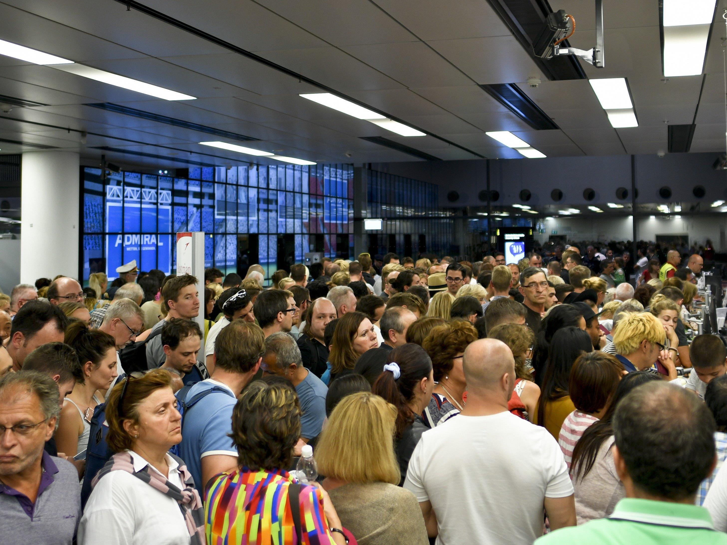 Am Sonntag fielen in Wien Dutzende Flüge aus.
