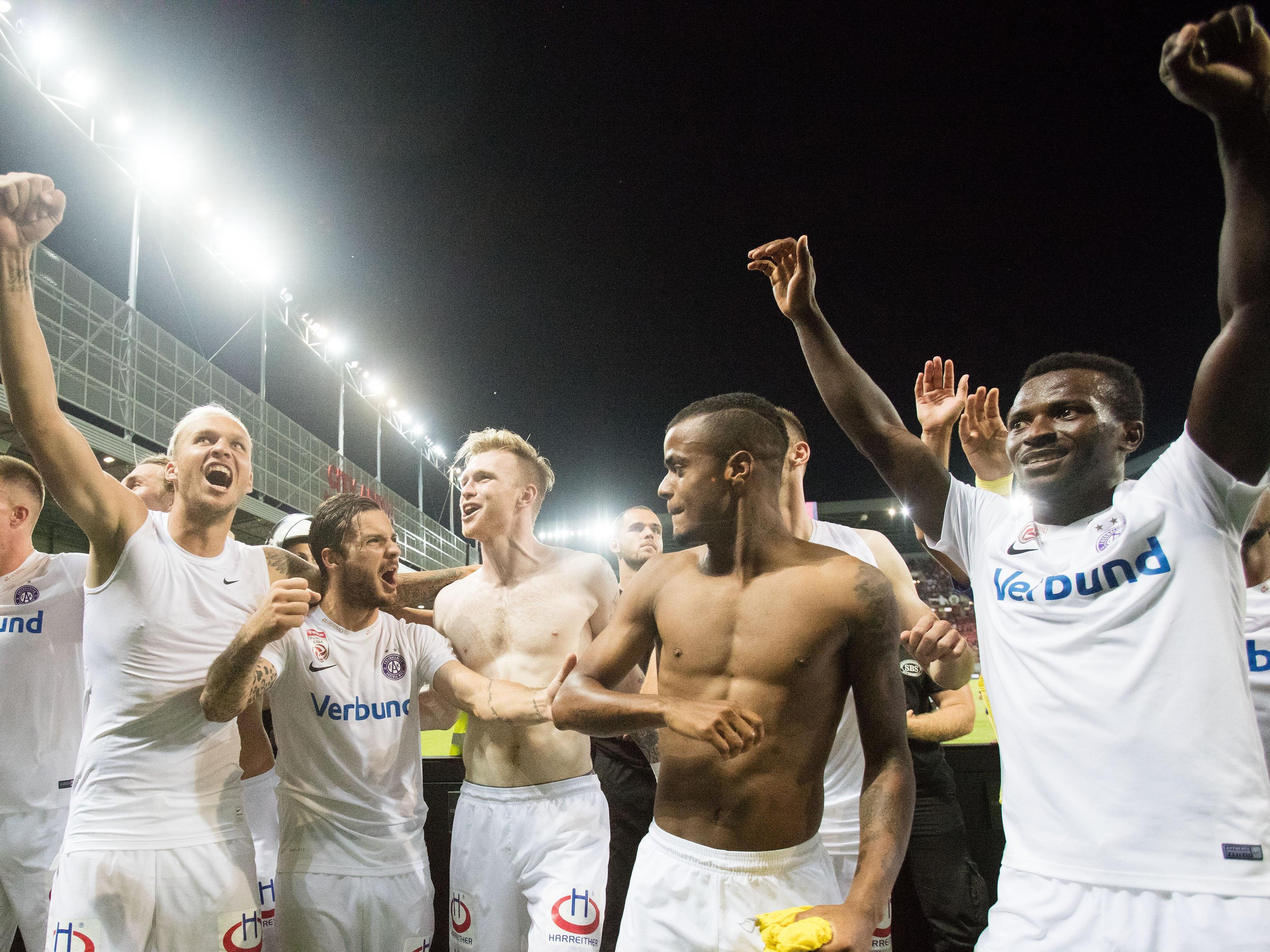 f8659ee714 Austria Wien nach Elferschießen gegen Spartak Trnava im Europa ...