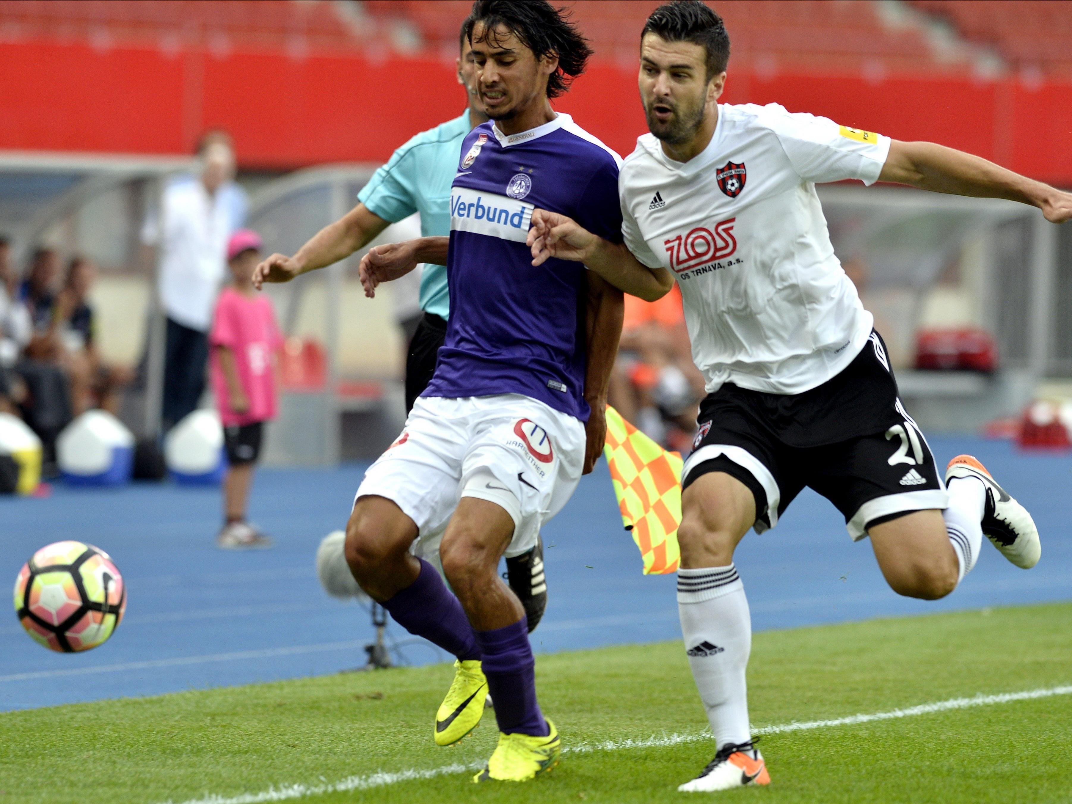 Die Austria muss in der Slowakei eine 0:1-Niederlage drehen, um ins Playoff einzuziehen.