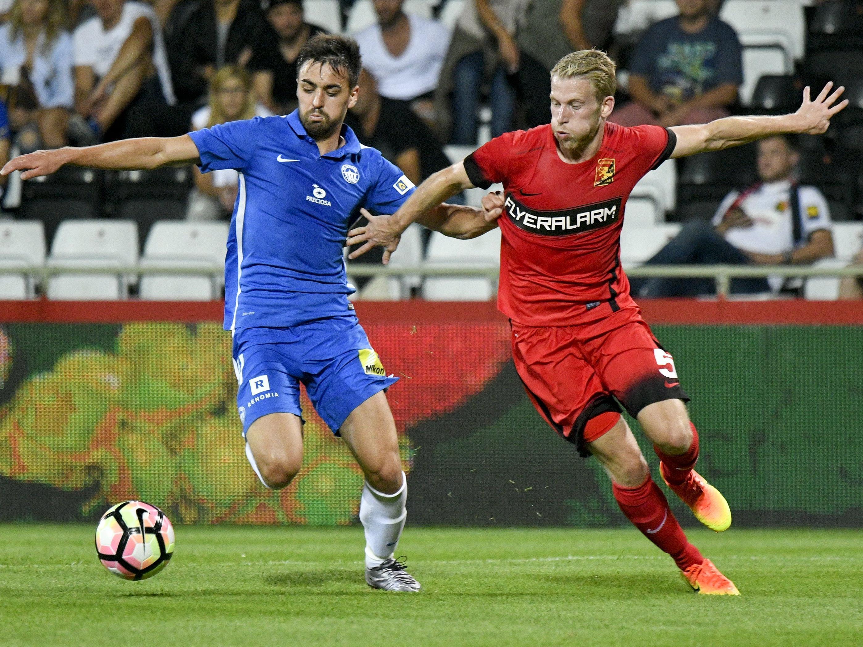 Die Admira ist in der Qualifikation zur Europa League gegen Slovan Liberec ausgeschieden.