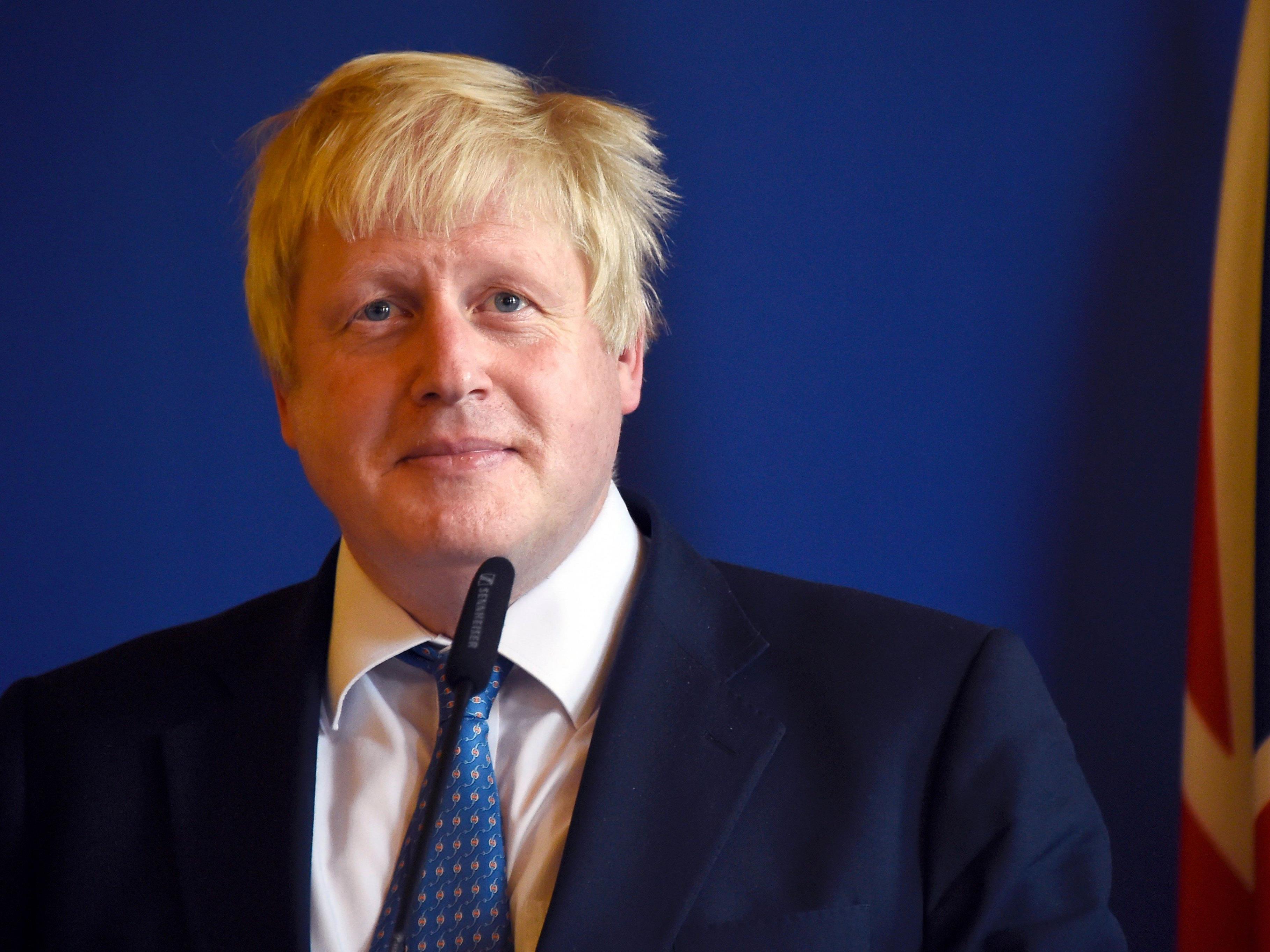 Der britische Außenminister Boris Johnson trifft in Wien auf Sebastian Kurz.