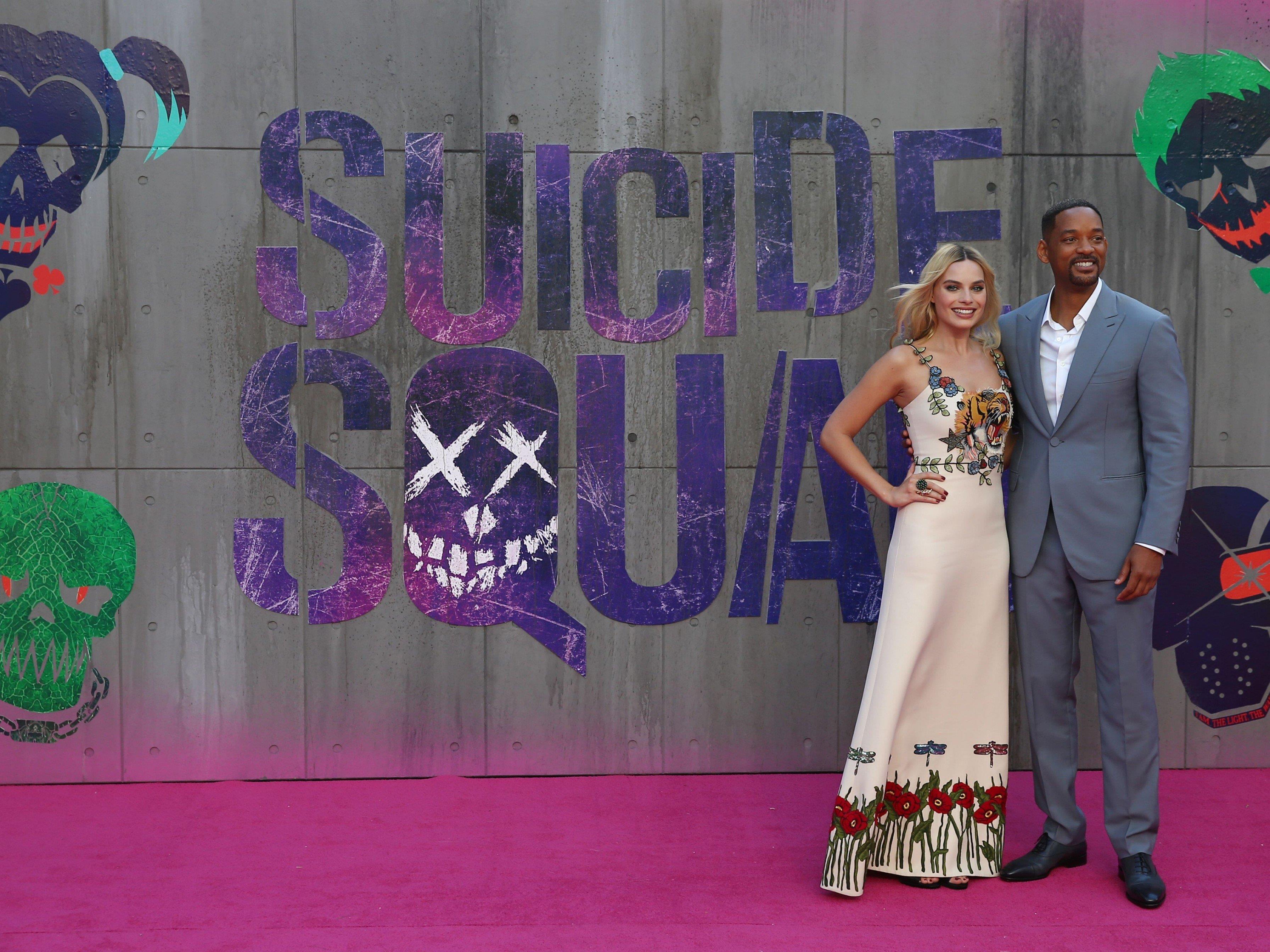 """Am Mittwoch fand die Europapremiere von """"Suicide Squad"""" in London statt."""