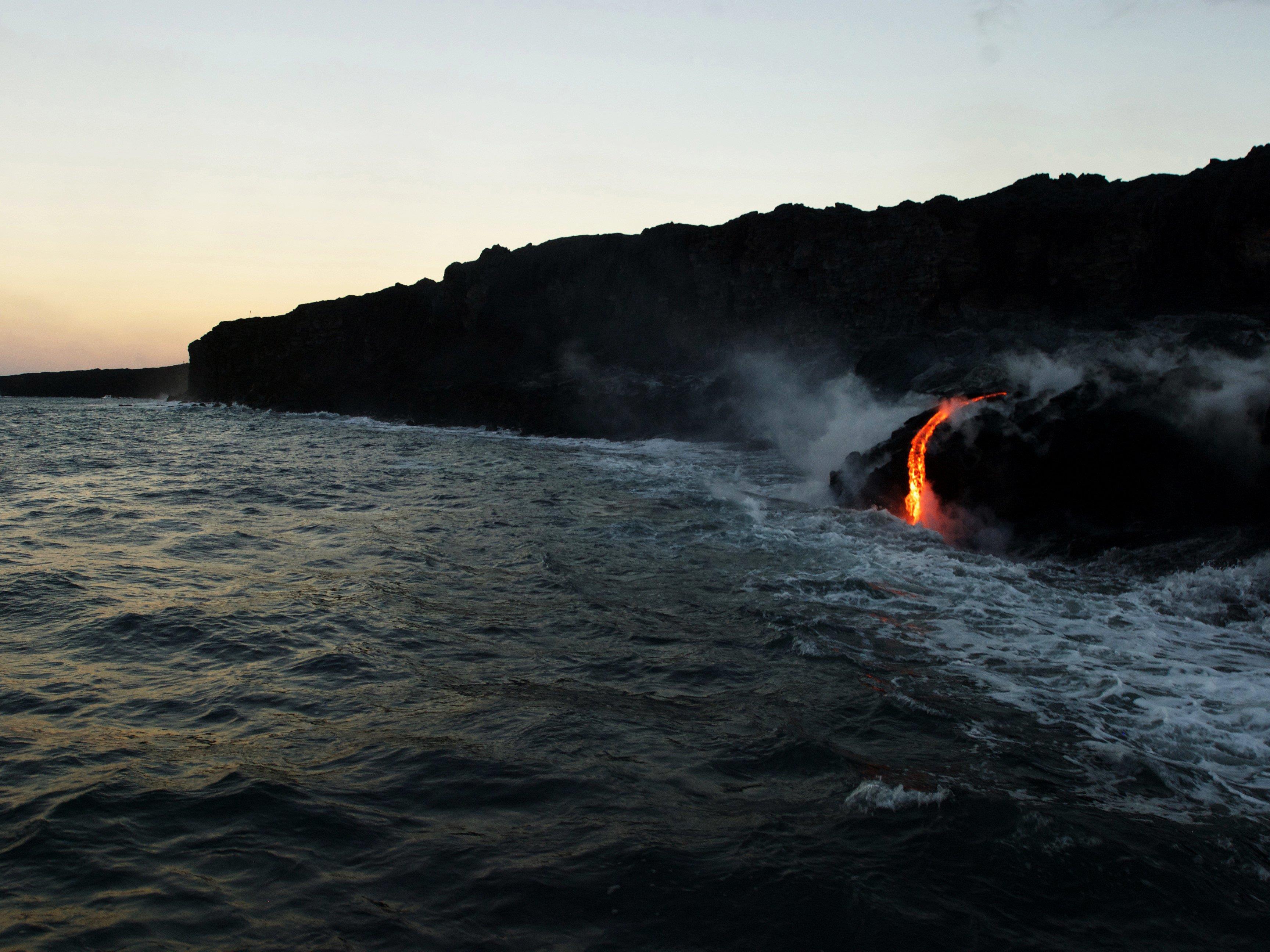 Seltenes Naturschauspiel auf Hawaii.