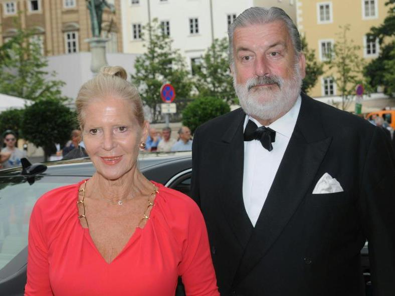 Schauspielerin Christiane Hörbiger und Gerhard Tötschinger.