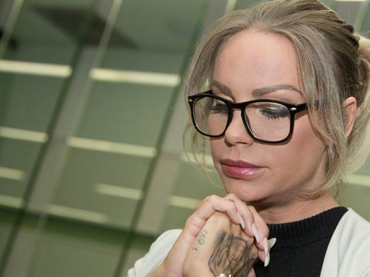 Gina-Lisa Lohfink im Amtsgericht Tiergaten in Berlin.