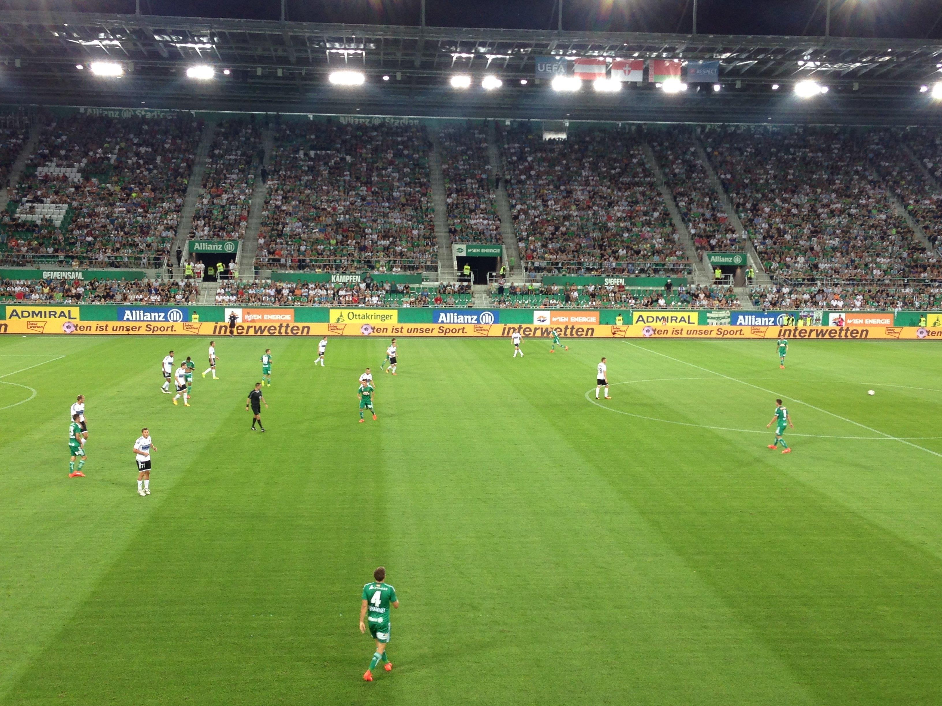 Rapid Wien gegen Torpedo Schodsina live aus dem Allianz-Stadion.
