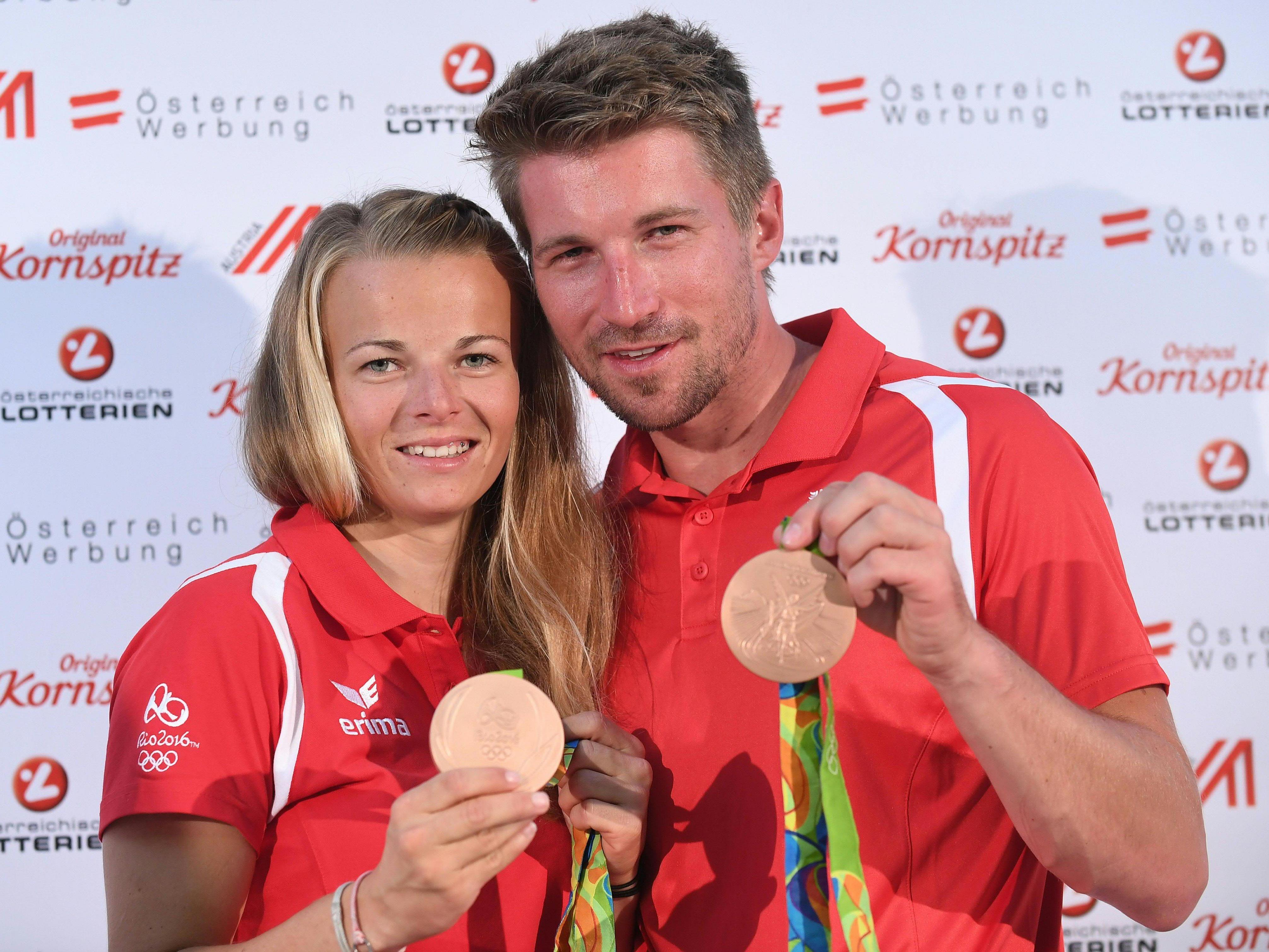 Tanja Frank und Thomas Zajac sorgten für Österreichs erste Medaille in Rio.