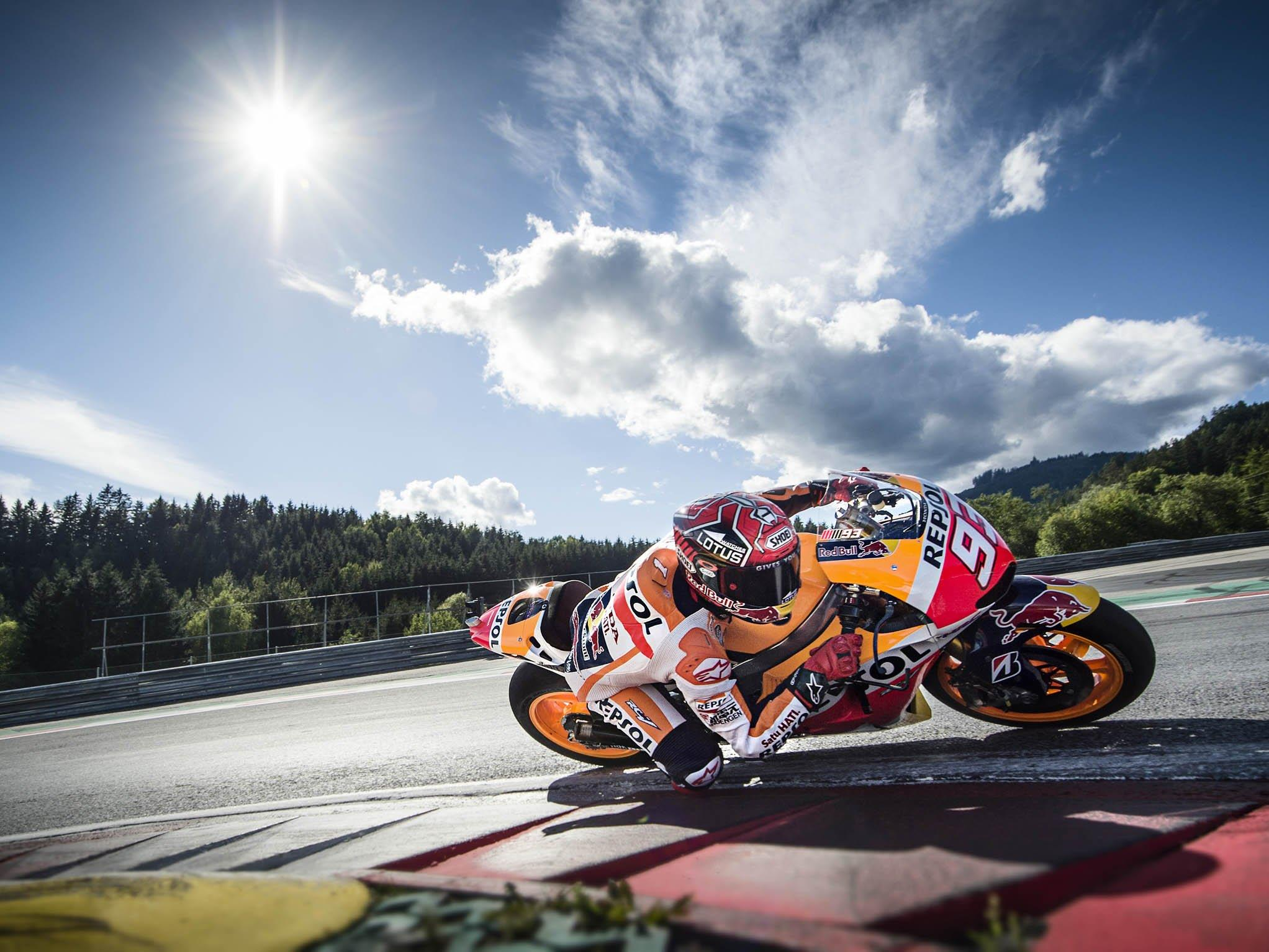 Marc Marquez in Action am Red Bull Ring.