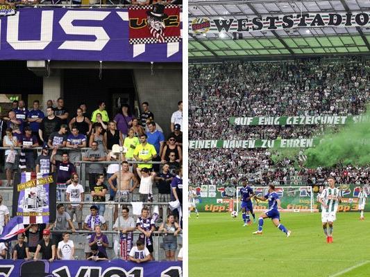 Austria- wie Rapid-Fans hoffen auf den Aufstieg in die Gruppenphase der Europa League.