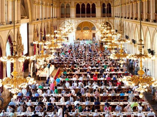 Die besten Schachspieler kamen beim Vienna Chess Open zusammen.