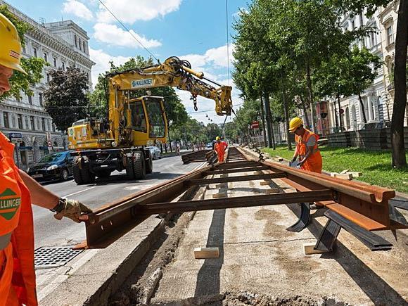 Erneuerung von Gleisinfrastruktur an mehreren Stellen in Wien