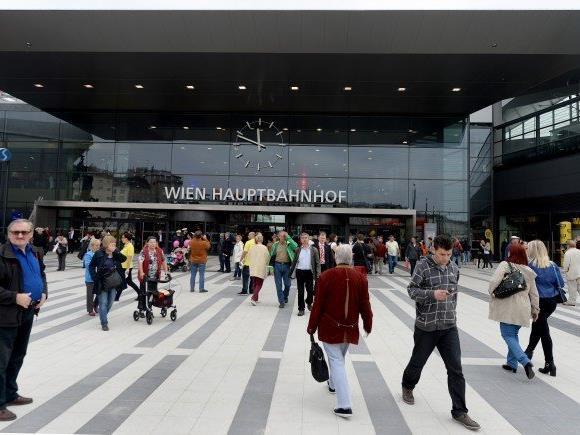 Beim Wiener Hauptbahnhof kam es zu einem Raubversuch