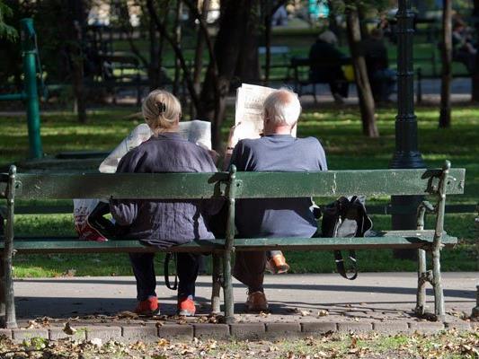 Im Esterhazypark wurden Holzblöcke auf Parkbänken montiert.