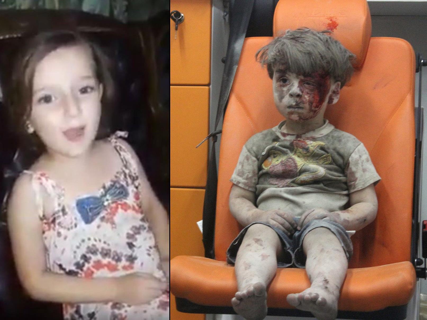 Sieht so die Kindheit der Kinder in Aleppo aus?