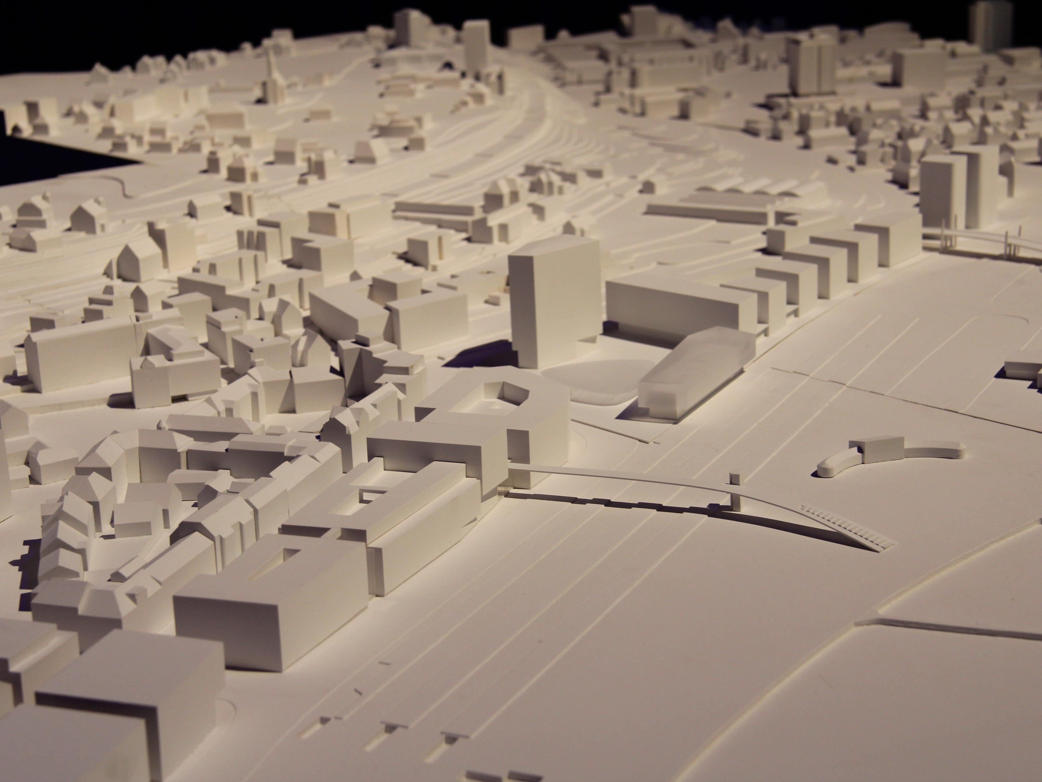 Bislang gibt es die Seestadt und das Seequartier nur als Modell.