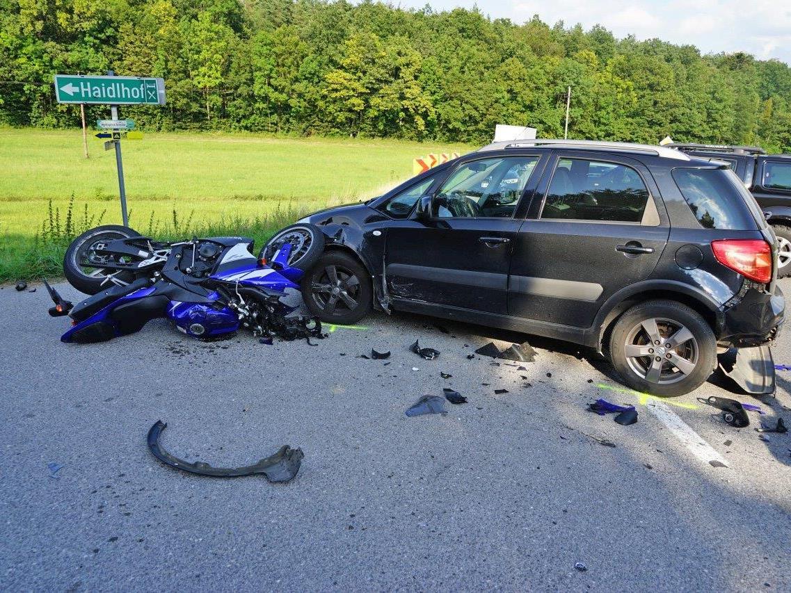 Der Unfall passierte auf der B212 bei Großau.