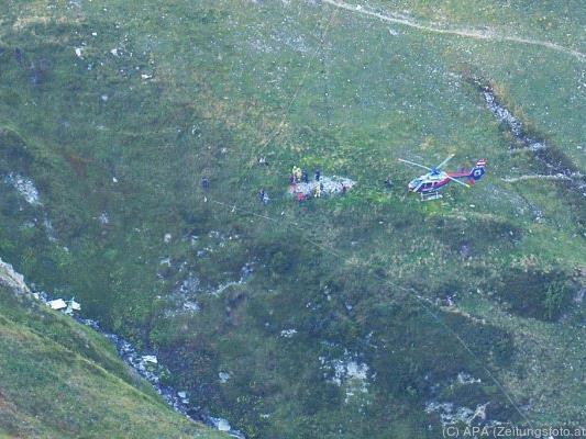 Die Unfallstelle im Steißbachtal