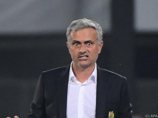 ManU-Trainer Jose Mourinho war sichtlich unzufrieden