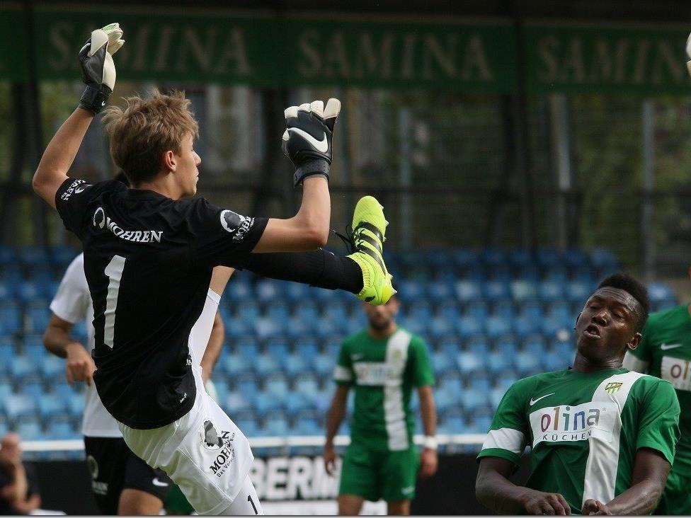 SW Goalie Janik Zaworka musste vier Gegentore hinnehmen
