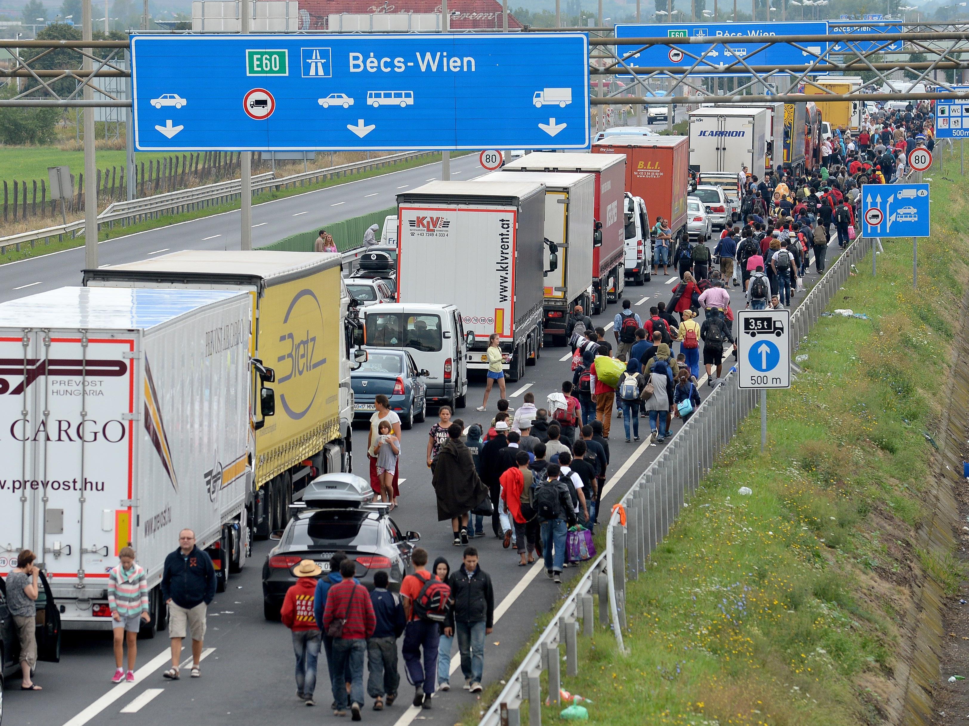 Österreich nimmt, an der Einwohnerzahl gemessen, die zweitmeisten Flüchtlinge aller OECD-Länder auf.
