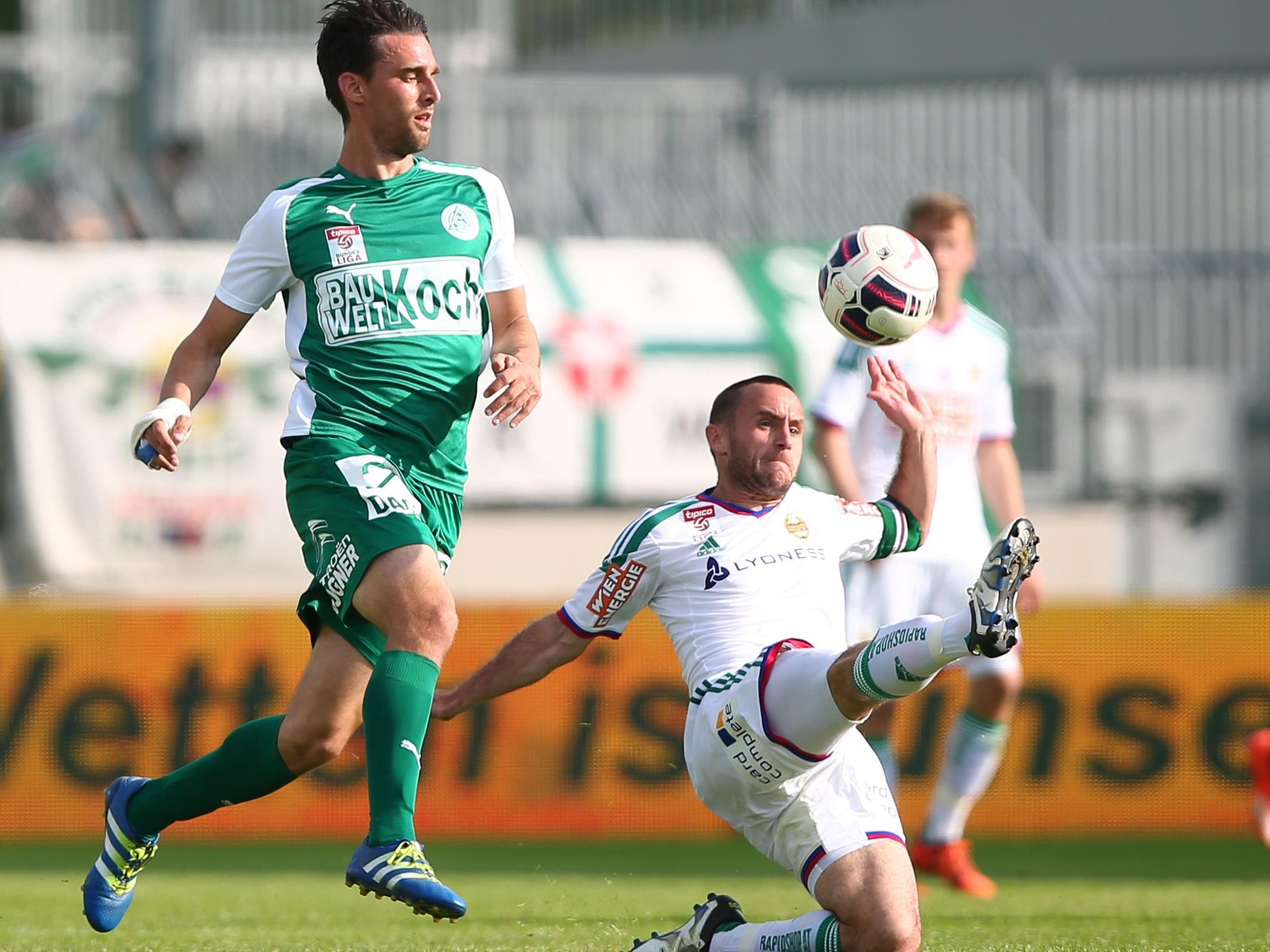 Rapid empfängt den SV Mattersburg im Allianz-Stadion.