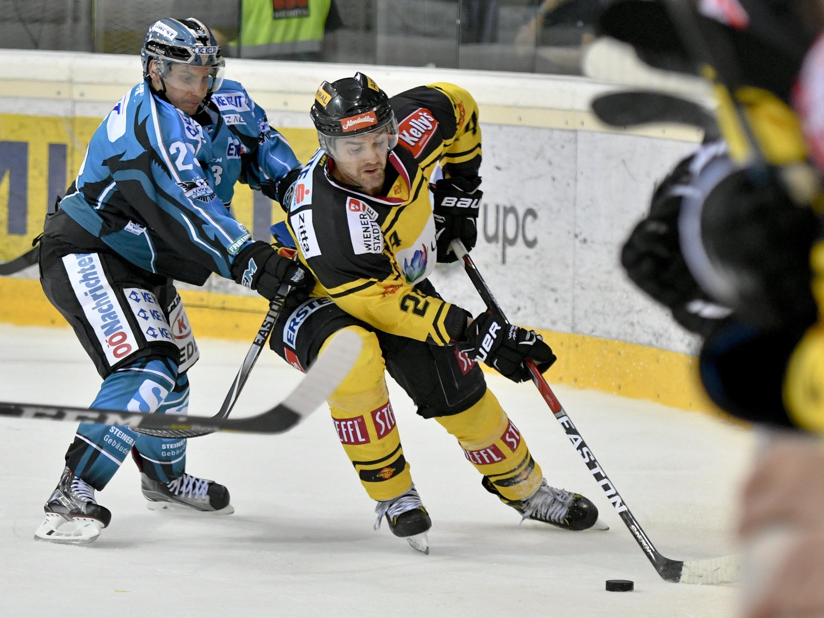 Die Vienna Capitals feierten einen Auftaktsieg über die Black Wings Linz.