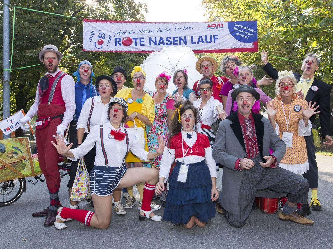 Beim Rote Nasen Lauf im Wiener Prater