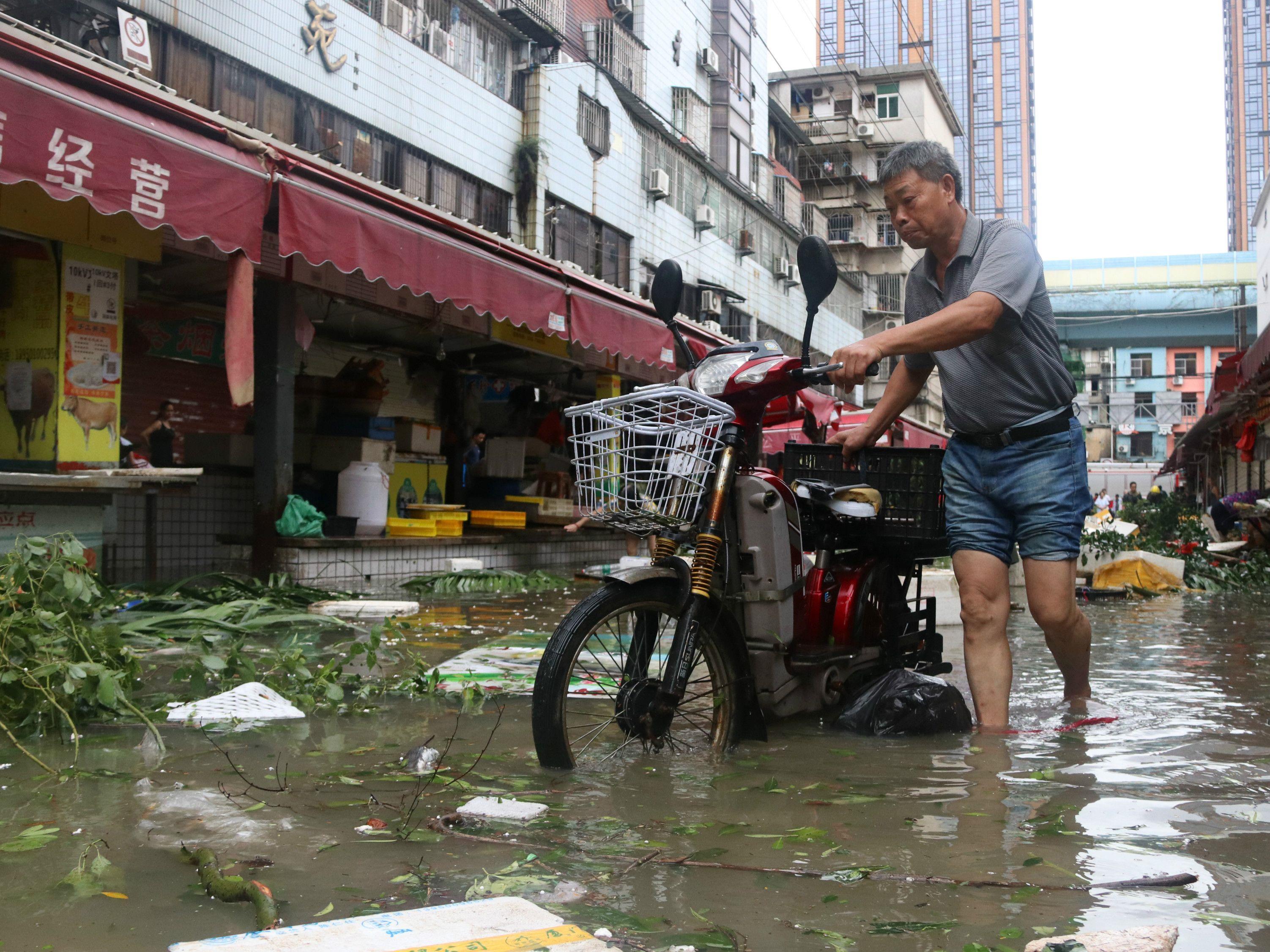Der Taifun Meranti sorgte in China für Verwüstung.