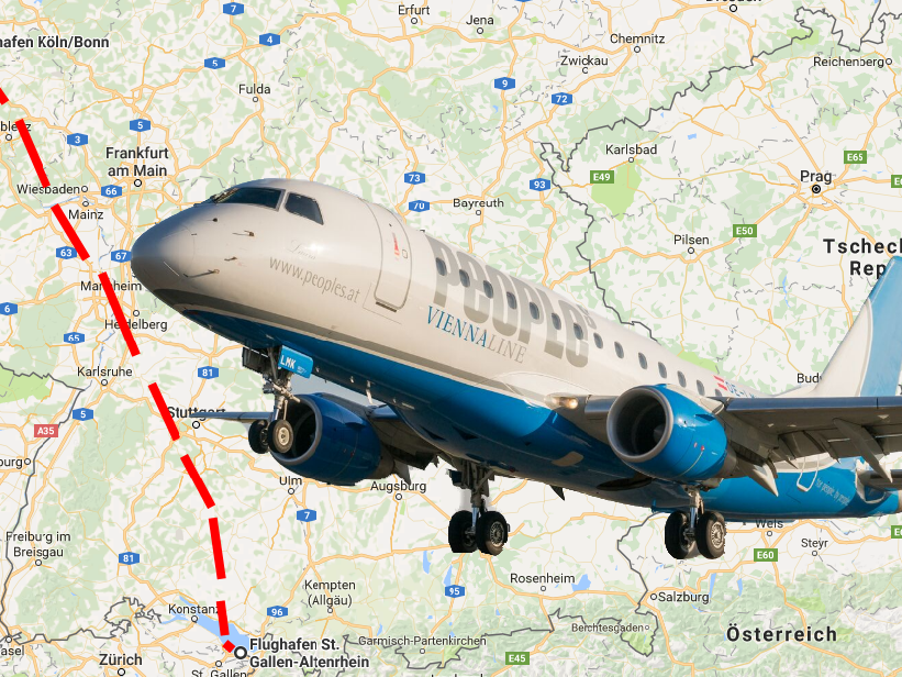 Künftig soll es eine Flugverbindung zwischen Altenrhein in der Schweiz und Köln geben.