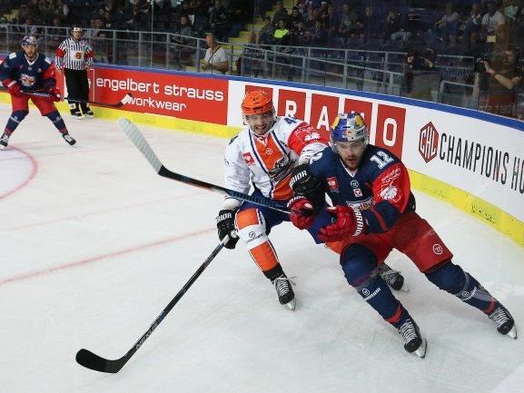 Salzburgs Alexander Cijan (EC RBS/re.) ist schon heiß auf die Champions Hockey League.