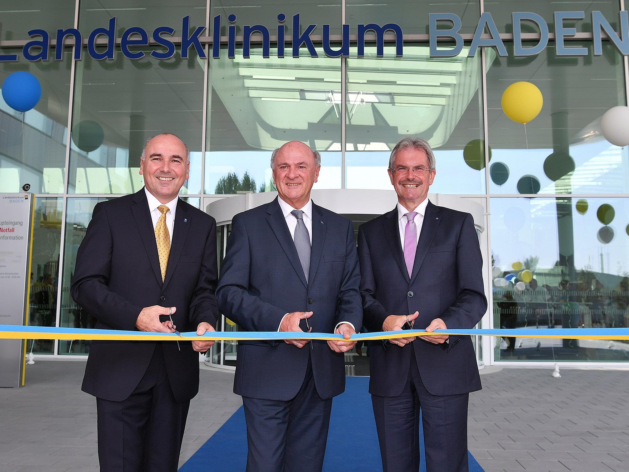 Am Montag wurde der Neubau des Landesklinikum Baden eröffnet.