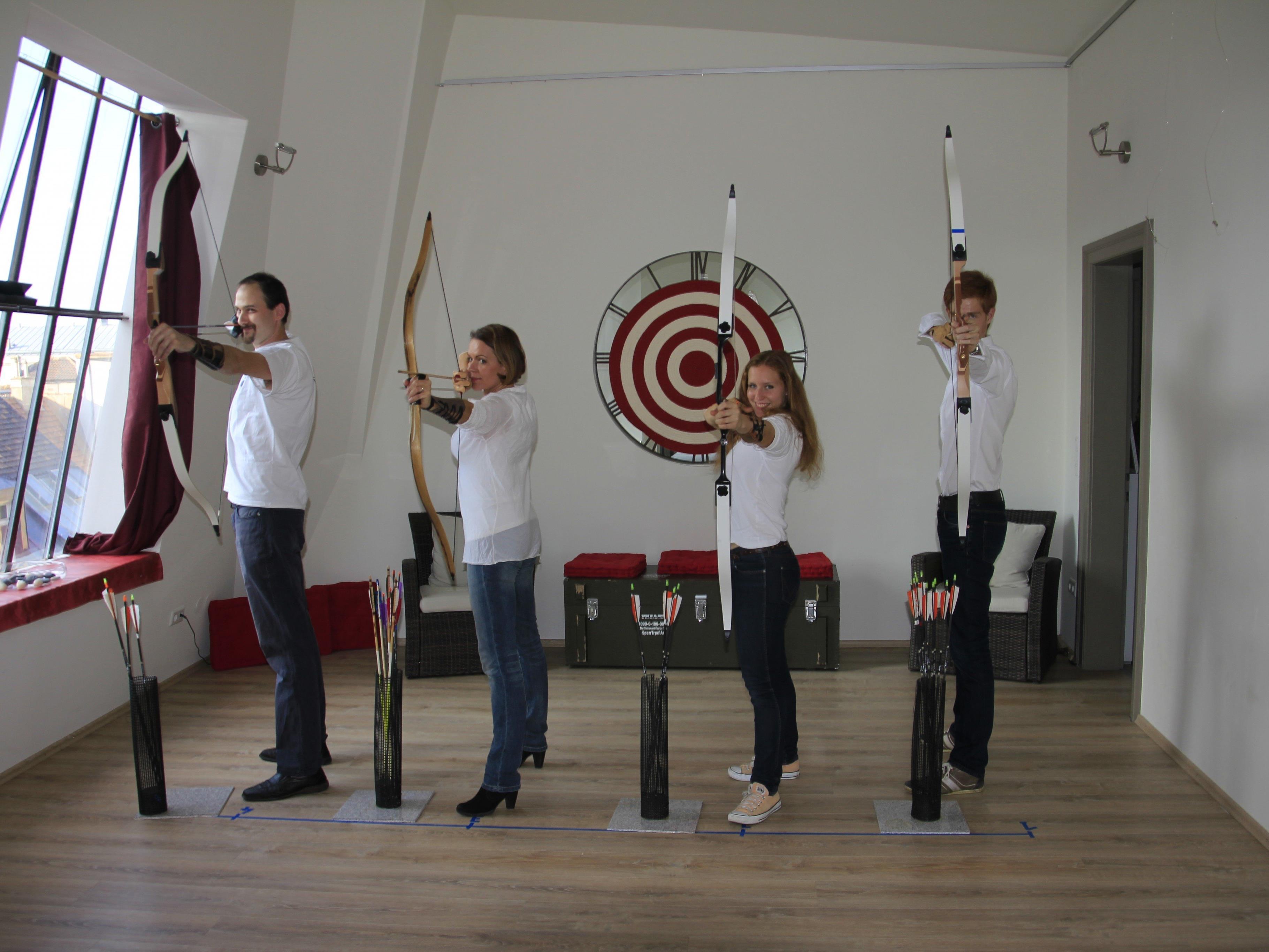 Freude am Bogenschießen wird einem im Arco Vienna Club anschaulich vermittelt
