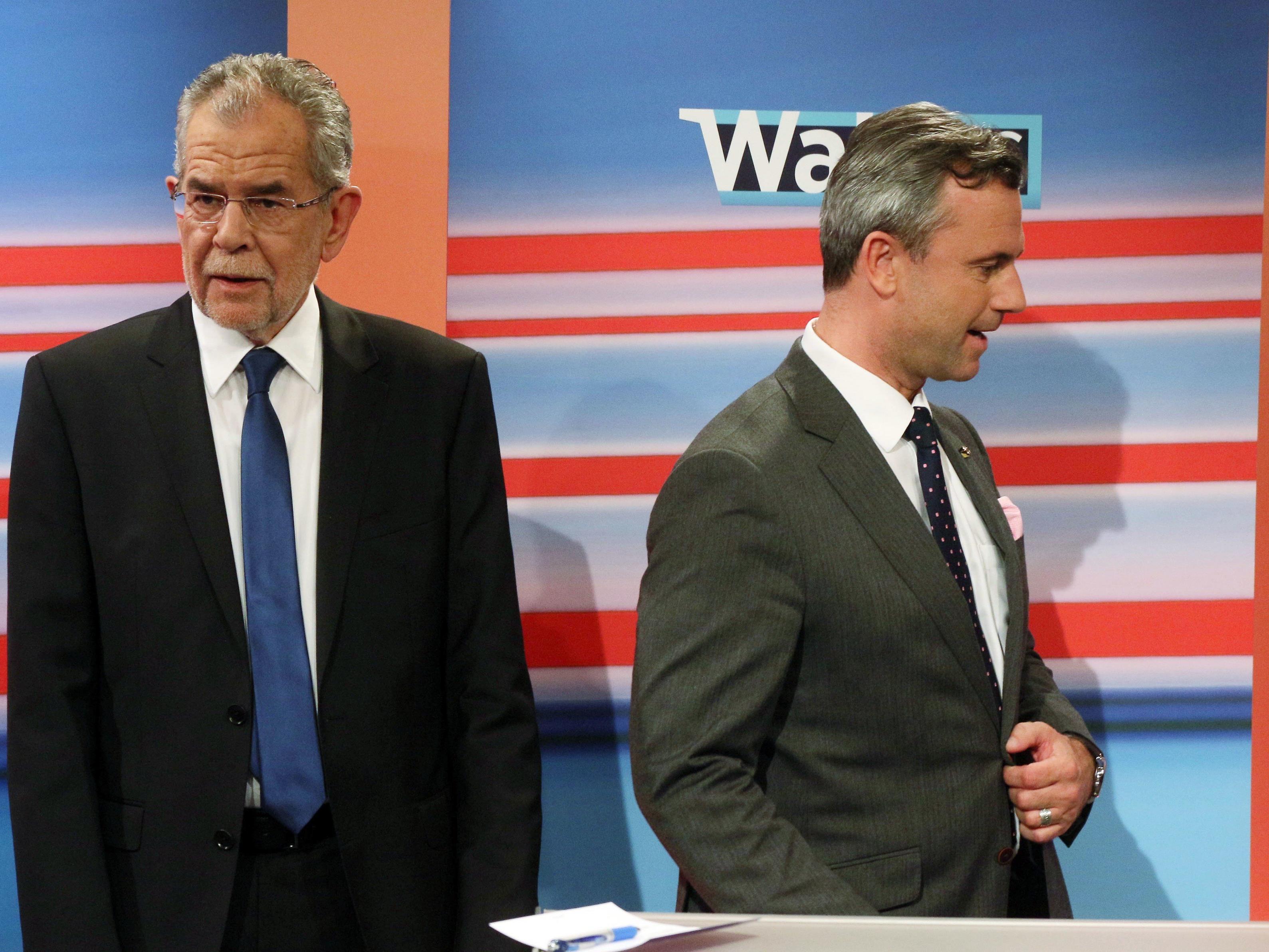 Die Stichwahl zwischen Alexander van der Bellen (li.) und Norbert Hofer wird sich am zweiten Advent entscheiden.