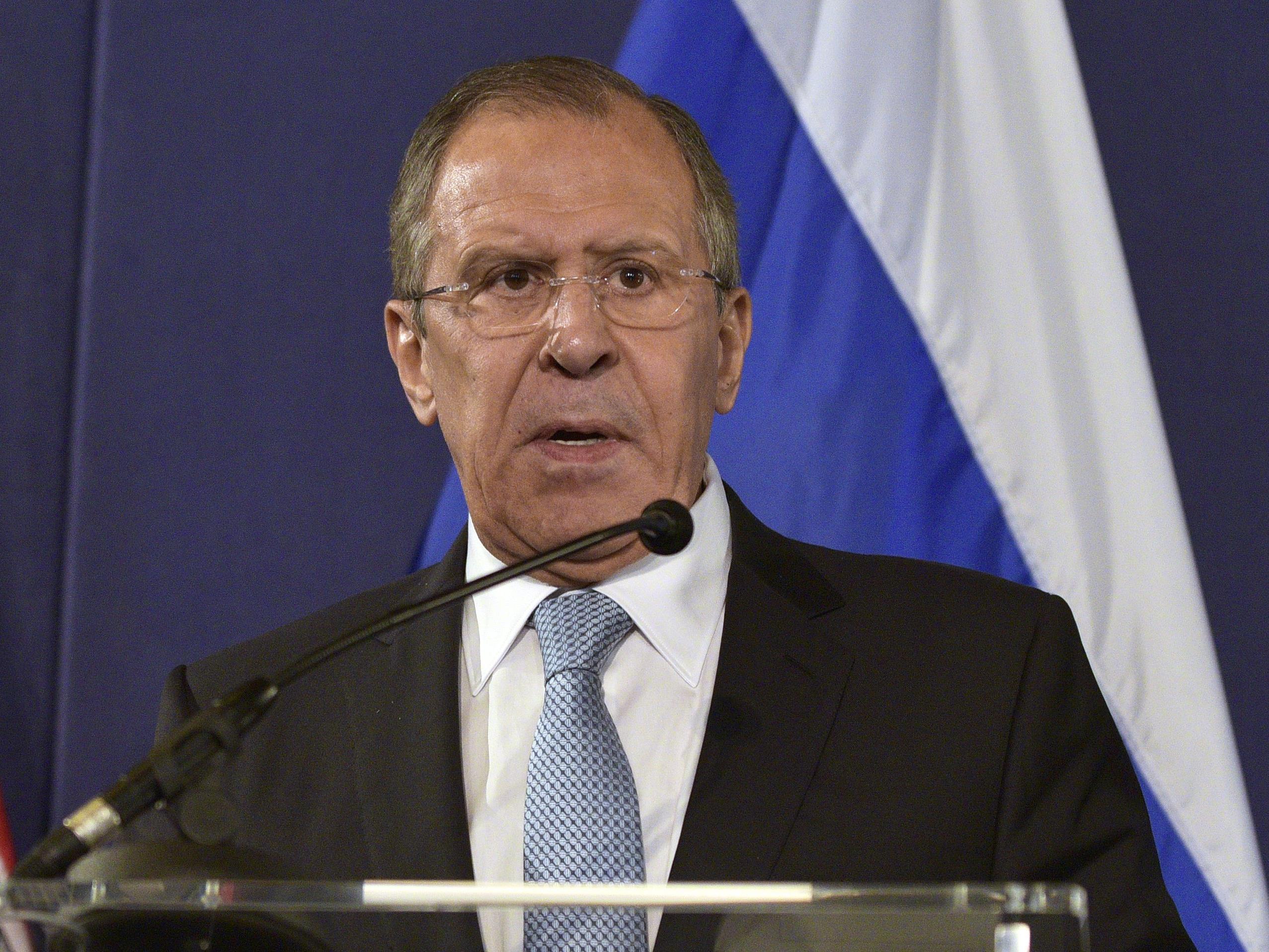 Der russische Außenminister äußert sich zu dem Vorfall.