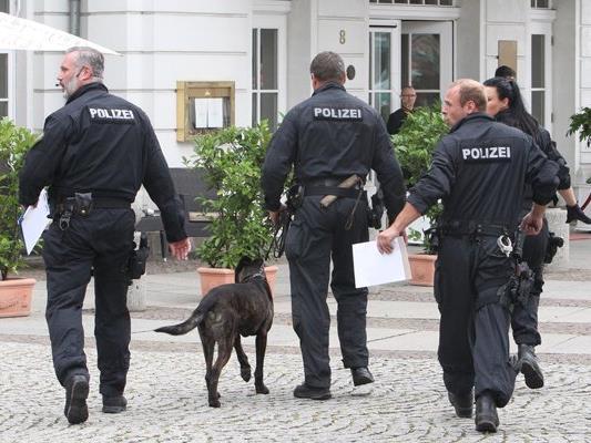 Die Leipziger Polizei im Großeinsatz.