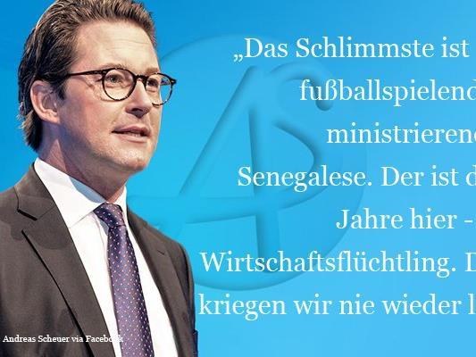 Mit seiner Aussage über die Schwierigkeit, abgelehnte Asylwerber rück zu führen hat der generalsekretär der CSU, Andreas Scheuer, wütende Reaktionen ausgelöst.