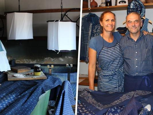Wir waren zu Besuch bei Familie Koó und haben Interessantes über das Handwerk des Blaudrucks erfahren.