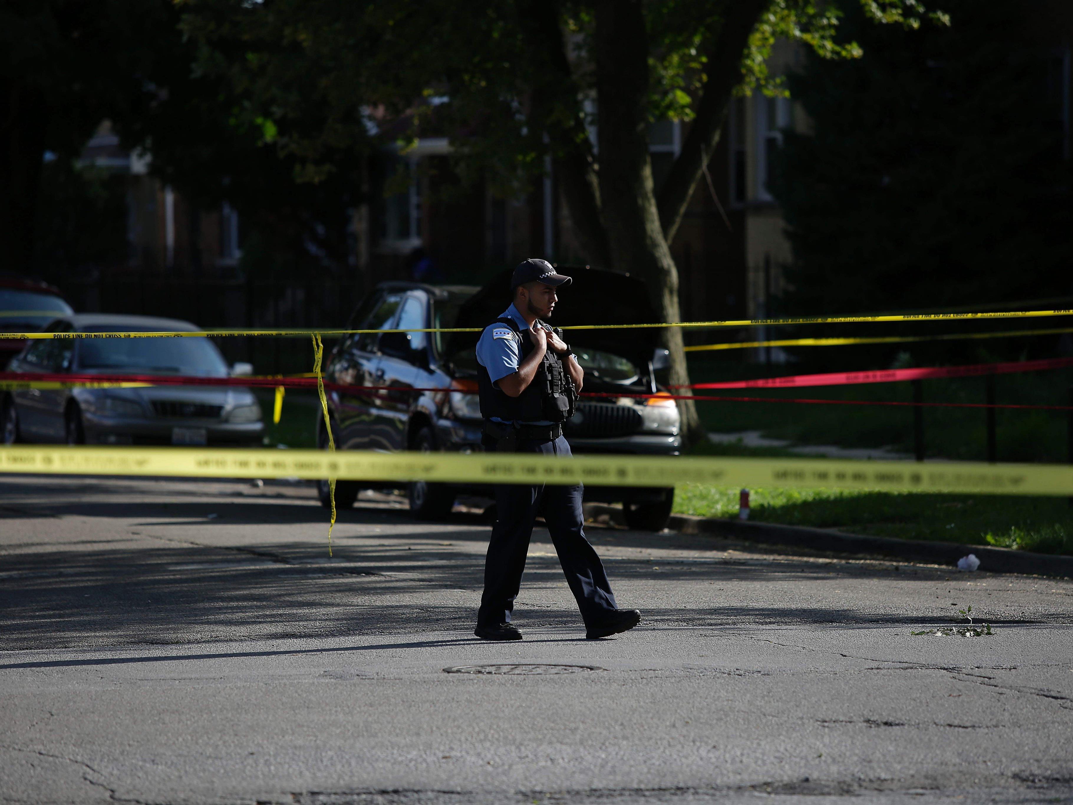 Die meisten Morde in Chicago gehen auf Waffengewalt zurück.