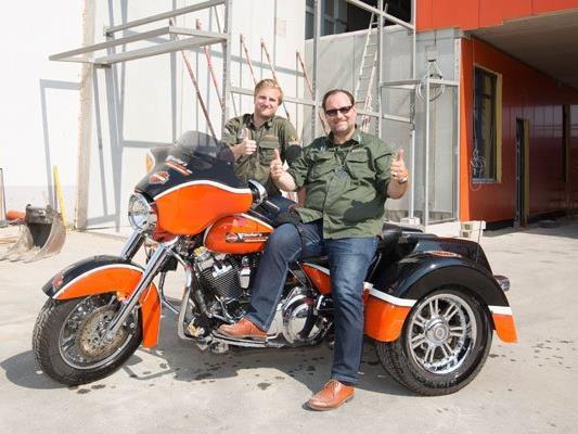 Das Fischer's Harley-Davidson-Wien lädt zum VIP-Opening.