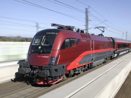 Auf der Strecke zwischen Wien und Salzburg fahren künftig Railjet-Züge der ÖBB.