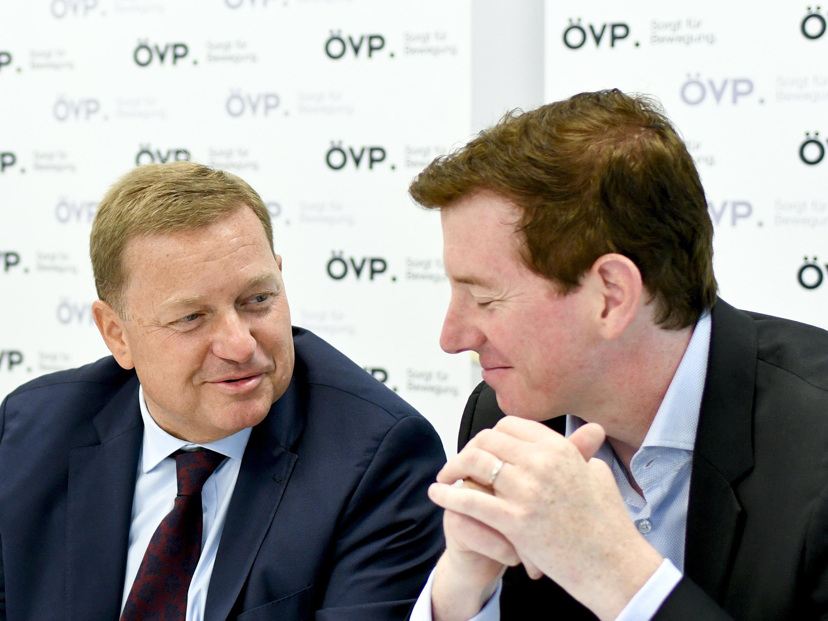 Der neue und der alte Generalsekretär der ÖVP: Werner Amon (links) und Peter McDonald (rechts).