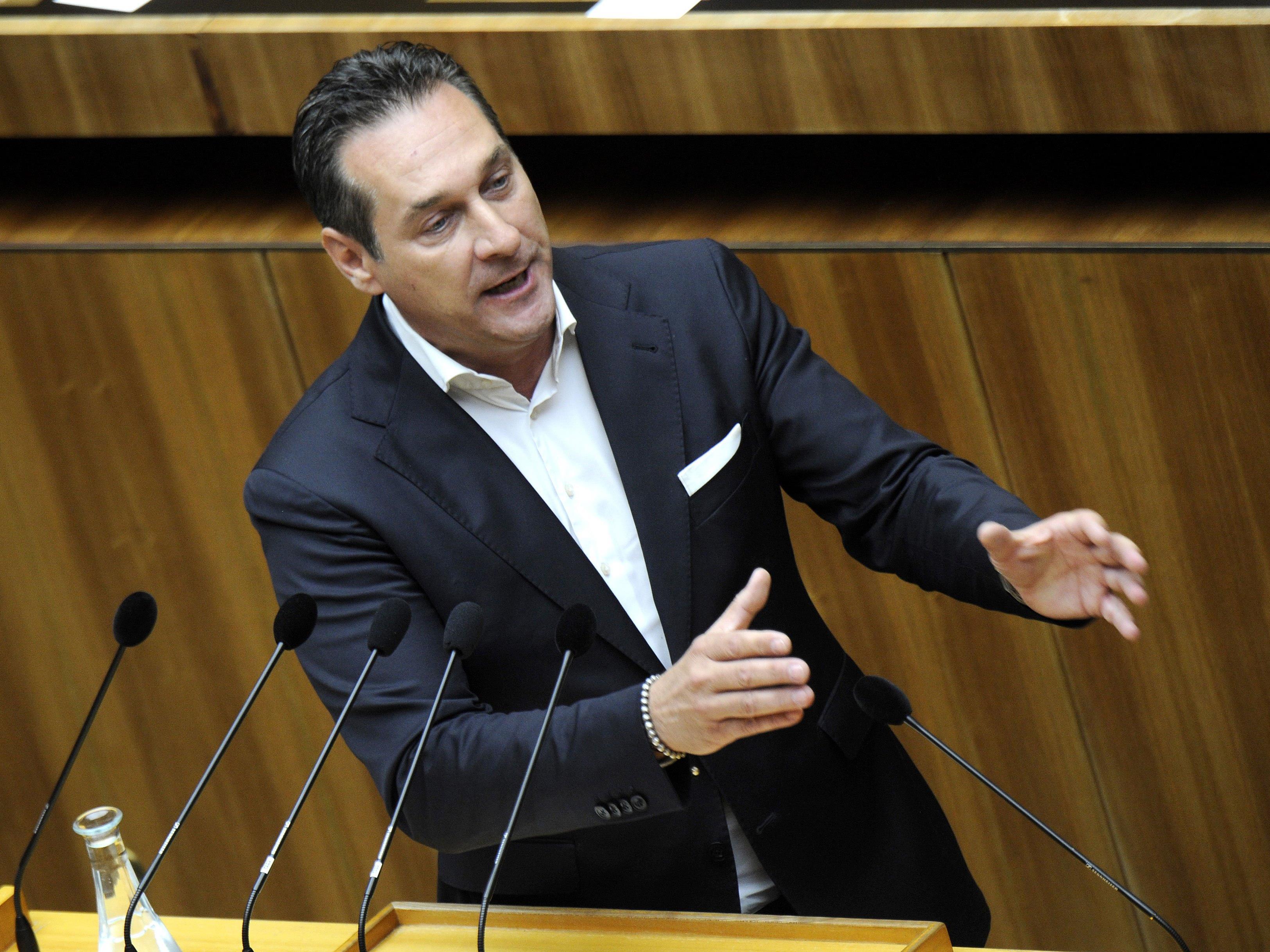 FPÖ-Chef Heinz Christian Strache meldete sich in der Causa zu Wort