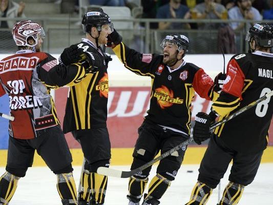 Die Vienna Capitals konnten sich mit 5: