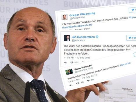 Bundespräsidenten-Stichwahl: Reaktionen zur Wahlverschiebung auf Twitter.