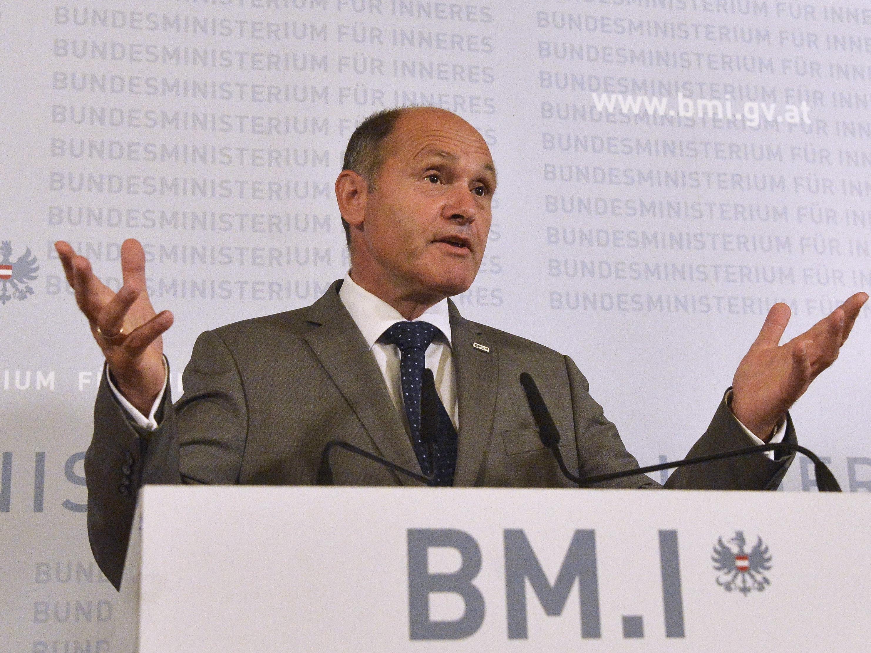 Innenminister Wolfgang Sobotka von der ÖVP.